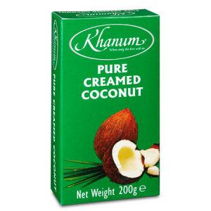 creme de coco pure 100% khanum 200g