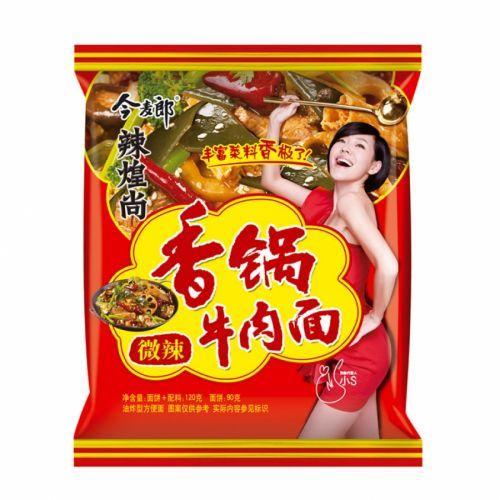 nouille epicées aux boeuf jinmailang 120 g
