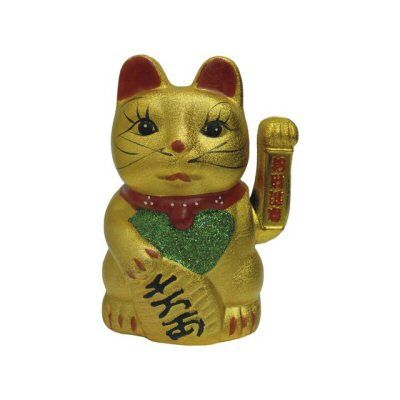 chat porte bonheur 22.5cm