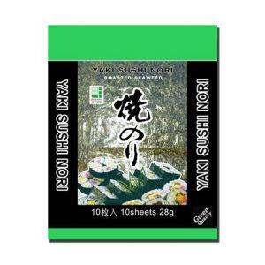 algues nori grillées séchées10 feuilles 25gr jhfoods