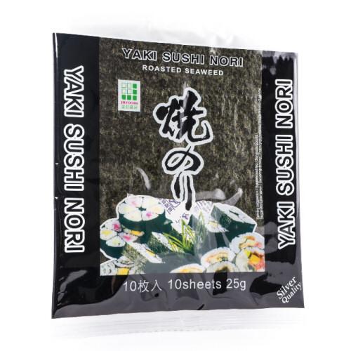 10 x feuille de nori yaki sushi argenté