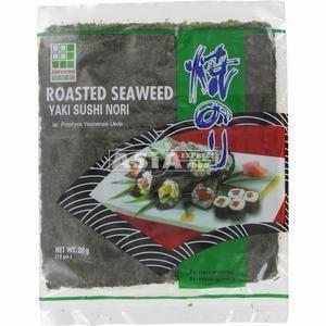 10 feuilles algues yaki nori pour sushi jhfoods 28gr