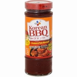 marinade cj bbq 500ml hot spicy poulet porc