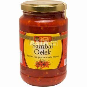 pate de piment sambal oelek 375 flower brand