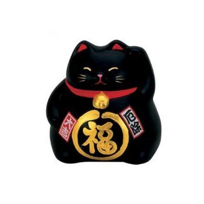 chat japonais noir contre la mal chance 9cm