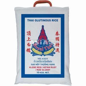 10kg riz gluant royal thai