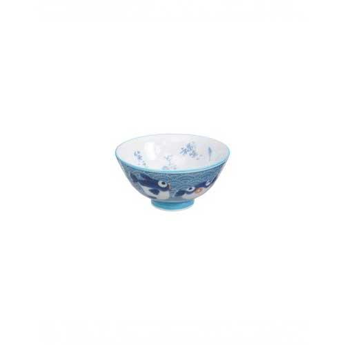 bol japonais poisson blue 11.2 x 6 cm
