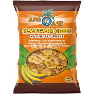 chips banane plantain nature afroase 80g