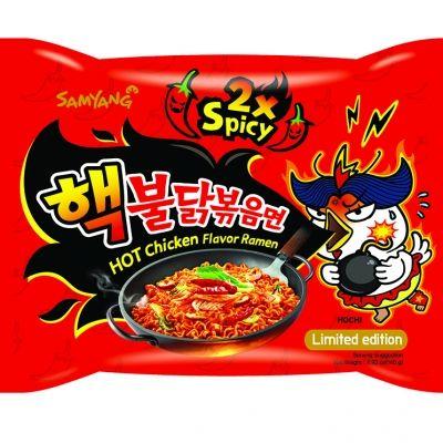nouille ramen coreennes challenge poulet tres epicés 140 gr samyang