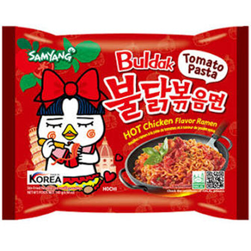 ramen coreenne poulet hot buldak sauce tomate 140gr