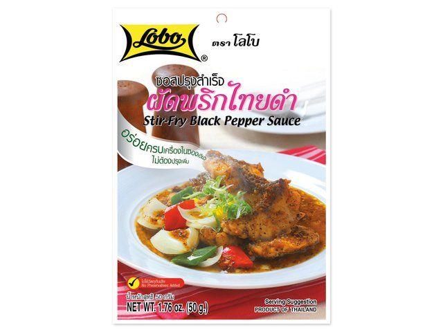 sauce aux poivre noir pour wok lobo