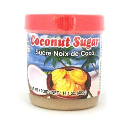 sucre de noix de coco 100% 400gr por kwan