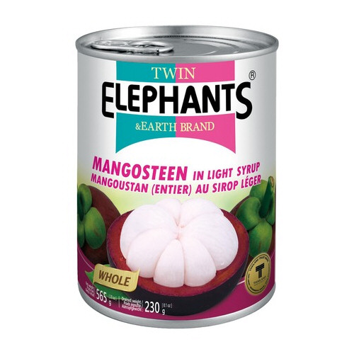 mangostan entier au sirop leger 565gr twin elephants