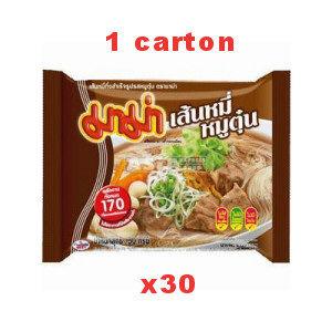 carton soupe vermicelle mama  au porc 30x50g