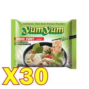 carton yumyum au curry vert 30x70gr