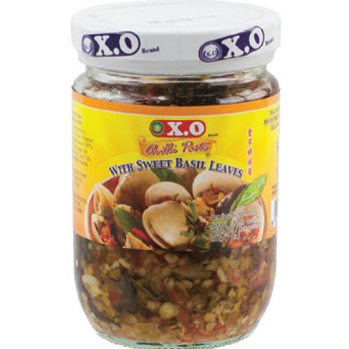 pate de piment doux feuille de basilic xo 200g